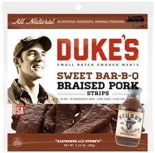 Duke'S Smoked Jerky Strips 3Oz Bag (Pack Of 3) (Sweet BBQ Braised Pork)