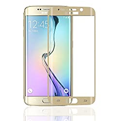 Skoot Tempered Glass Full Screen Coverage Frame Curved Edge to Edge Protection for Samsung Galaxy S6 Edge - Gold
