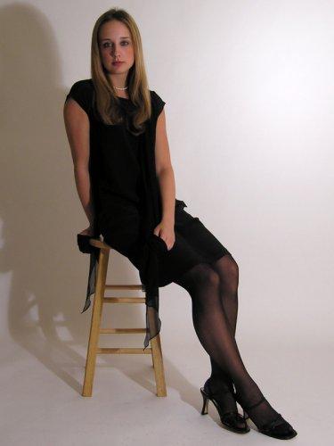 Silk Pencil Skirt by Royal Silk - Black - 27-28 Petite Image