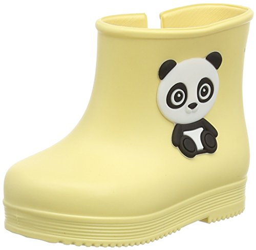 ZaxyBaby Bootie Panda - Stivaletti da bebè Bimbe' , Giallo (Yellow (Lemon)), 40 1/3