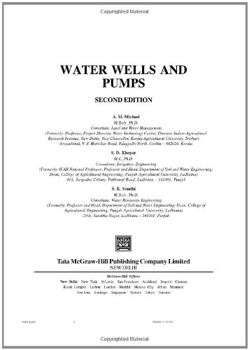 Water Wells and Pumps - McGraw-Hill Professional - 0071591206 - ISBN:0071591206