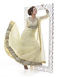 Nirali Women's Net Unstitched Dress Material (NRKXR NO 1535_White)