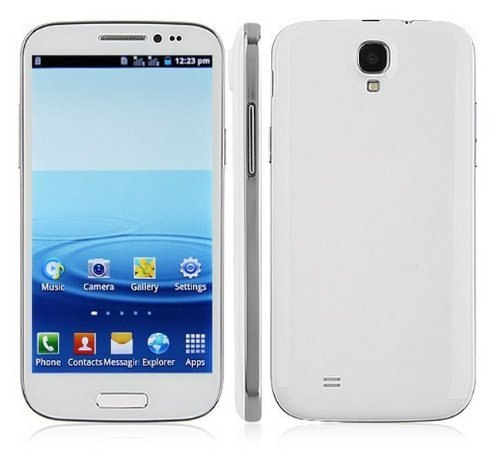 Unlocked Quadband Dual Sim Android 4.1 Os with 5 Inch Touch Screen Smart Phone – At&t, T-mobile, H20, Simple Mobile and Other GSM Networks (White)