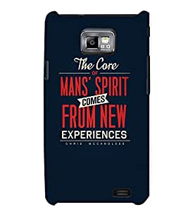 TOUCHNER (TN) Experiences Back Case Cover for Samsung Galaxy S2::Samsung Galaxy S2 i9100