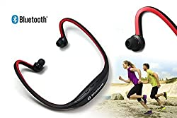 Oumers Stereo Music Bluetooth Earbuds Earphone Call Headset Sport Headphones Wireless Headphone with Microphone For iPhone 6 Plus 5 4 3, Samsung Galaxy S3, S4, S5, Note 6 4 3 2, LG , HTC, Motorola Ipad Ipod Android Samsung Galaxy Smart Phones All Bluetooth Devices Red