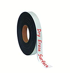 MasterVision Magnetic Dry Erase Tape Roll, 1-Inch x 50-Feet, White (FM2018)
