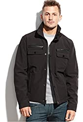 Michael Kors Jacket Black Solid Zippered New Men's Jacket / Coat