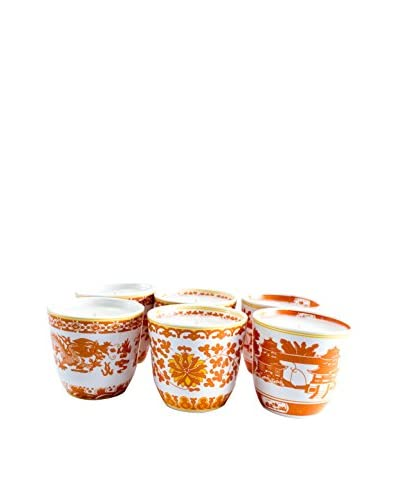 Market Street Candles 6-Pack of Fig Scented Shanghai Candles, Orange