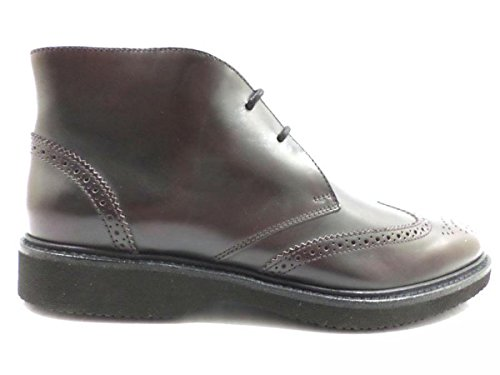 scarpe uomo HOGAN 43 EU stivaletti polacchini marrone scuro pelle AZ863