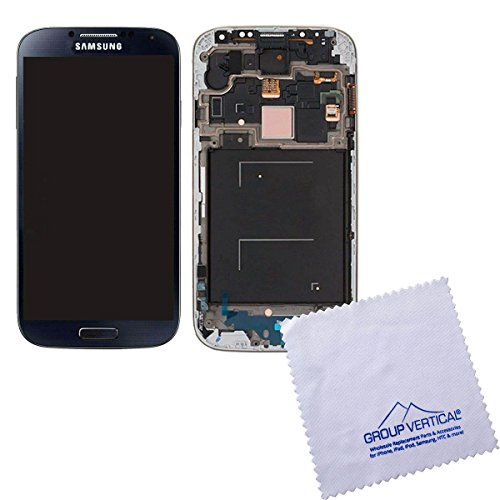 Black Mist Complete Lcd+Digitizer Assembly With Frame For Samsung Galaxy S4 I337