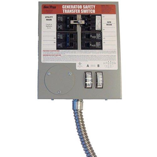 Generac 6376 30-Amp 6-10 Circuit Indoor Manual Transfer Switch for Maximum 7,500 Watt Generators