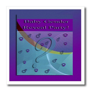 Ht_43482_2 Beverly Turner Invitation Design - Baby Gender Reveal Party Invitation, Question, Male Or Female - Iron On Heat Transfers - 6X6 Iron On Heat Transfer For White Material front-277587