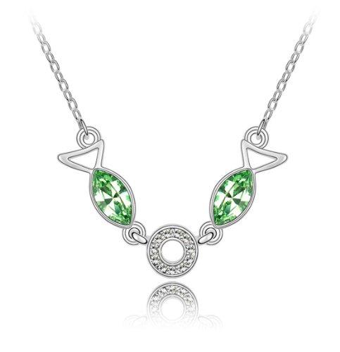 Boxingcat Fine Jewelry Swarovski Style Clear Austrian Crystal Pendant Necklaces Bgca2771 front-419499