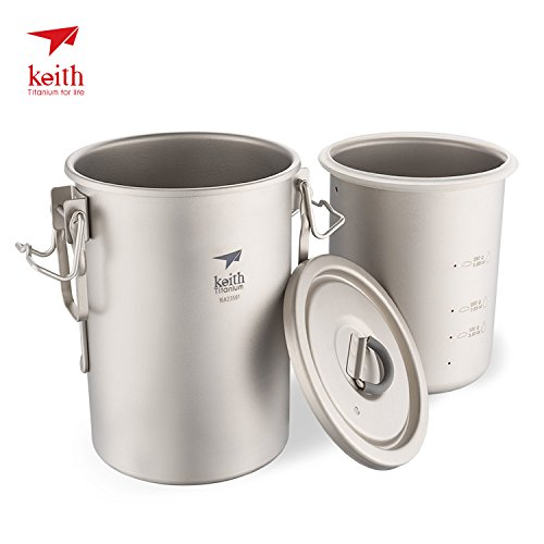 Keith Multipurpose Titanium Pot armor are not rice paste pot cookware in cooking light-weight camping cooker (Camping Rice Cooker compare prices)