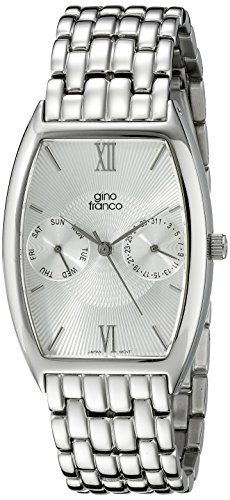 gino franco Men's 920WT Stainless Steel Multi-Function Bracelet Watch