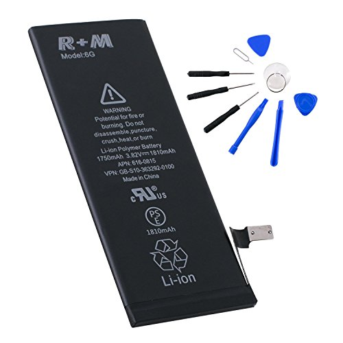 r m iphone 6 internal li ion polymer battery replacement 3 8v 1810mah durable with complete tool. Black Bedroom Furniture Sets. Home Design Ideas