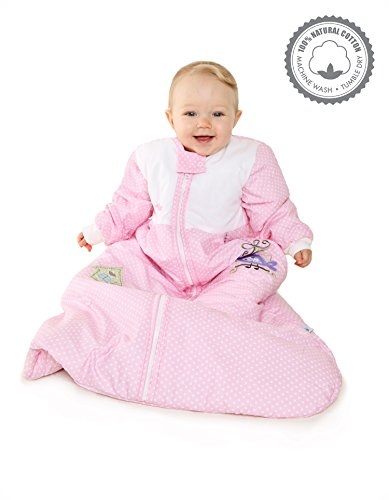 Schlummersack Winter Baby Sleeping Bag Long Sleeves 3.5 Tog- Little Birdie - 0-6 months/28inch