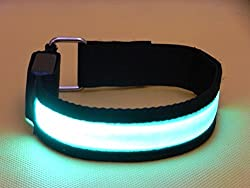 Namsan Safety LED Armband High Brightness Night Cycling Jogging Walking Reflective Armband Adjustable Improves Personal Visibility Flexible Lightweight Visible Super High-light Armbands for Outdoor Enthusiasts and Adventure Seekers Six Colors to Choose--Red Yellow Orange Green Blue Colorful Blue 1pcs