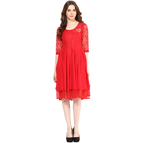 Red-long-party-dress-Dress