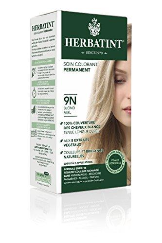 Herbatint Permanent Herbal Haircolor Gel, 9N Honey Blonde, 4 Ounce (Vegetal Hair Dye compare prices)