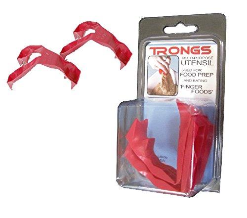 トロングス TRONGS (フィンガートング 、 ゆびさきトング) 赤い爪  2個セット TROTRONGS2P