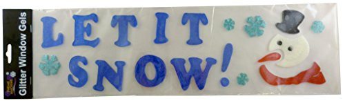 gel-glitter-fenetre-stickers-noel-bonhomme-de-neige-conception-let-it-snow-decorations-de-noel