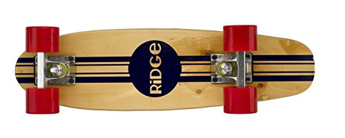 Ridge Skateboards Maple Mini Cruiser Original Skateboard, Rosso