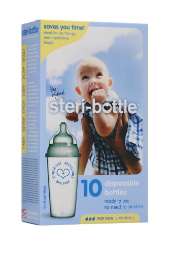 Steribottle Ready to Use Disposable Baby Bottles,  10-Count - 1
