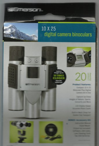 Emerson 10 X 25 Digital Camera Binoculars With Bonus Accessories Kit Inside