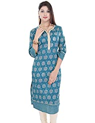 Mystique India Women's Cotton Long Kurti