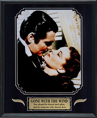Gone with the Wind. Clark Gable and Vivien Leigh. Framed Movie Photo in the Black Modern Real Wood Frame (12 x 15) Coupon 2016