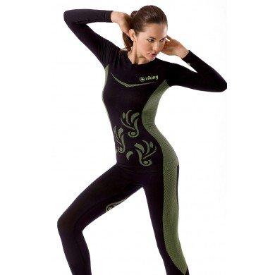 Viking Olivia da donna intima Set/termico/Traspirante/pantaloncini, Black-Grey - black / grey, M