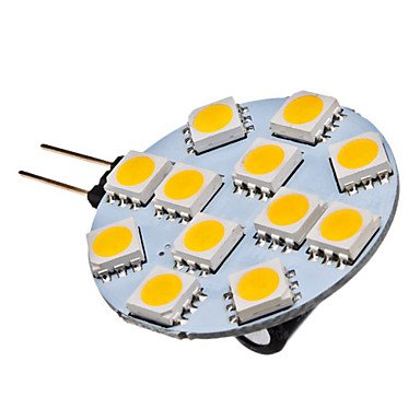 Luo G4 1.5W 12X5050Smd 70Lm 2700K Warm White Light Led Spot Bulb (12V)