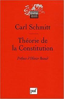 Théorie de la constitution par Schmitt