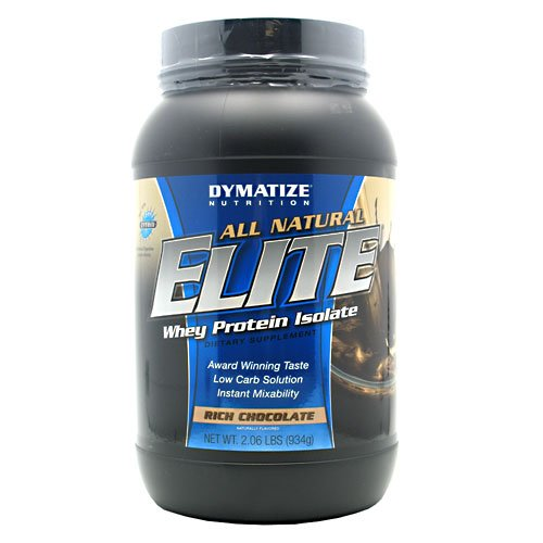 Dymatize Nutrition Elite Natural, Whey Protein Isolate, Rich Chocolate, 2.06-Pounds