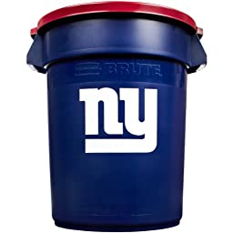 Rubbermaid Commercial Team Brute 32-Gallon Trash Can and Lid, New York Giants