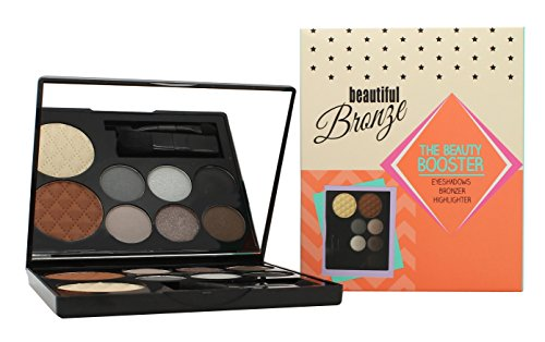 Sunkissed Beautiful Bronze Beauty Booster Confezione Regalo 6 x 2g Ombretti + 4g Bronzer + 4g Highlighter + Applicatore