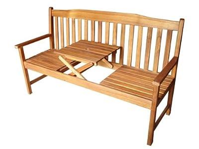 Gartenbank Malmö mit Tisch Parkbank Sitzbank 3 Sitzer Bank Holzbank Akazie von Westerholdt GmbH - Gartenmöbel von Du und Dein Garten