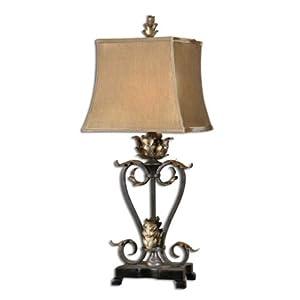 Decorative Desk Lamps on Amazon Com  Decorative Table Lamp Tuscan Leaf Design  Home Improvement