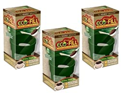 Eco-Fill Reusable Coffee Filter for Cusinart/Breville/Keurig Single Serve K-Cup Coffee Brewers- 3 Pack made by Arm Enterprises