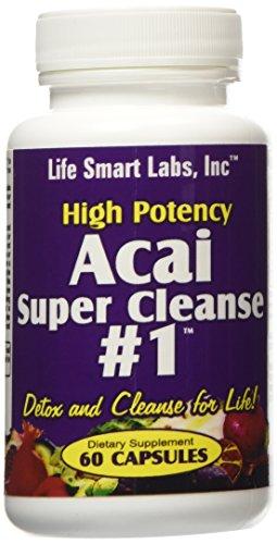 ACAI SUPER CLEANSE #1 TM HIGHLY POTENT 60 capsules ANTIOXIDANT, Detox