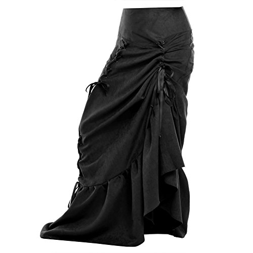 Blessume-Women-Punk-Corset-Skirt-Black