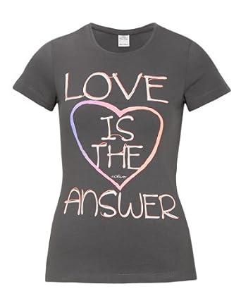 s.Oliver Mädchen T-Shirt 66.402.32.4525, Gestreift, Gr. 170 (Herstellergröße: XL), Grau (stone grey)