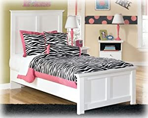 bostwick shoals twin panel bed in white