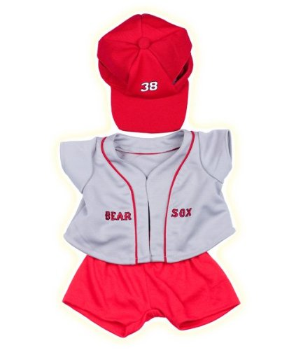"""Bear Sox"" Baseball w/Cap Outfit Teddy Bear Clothes Fits Most 14"" - 18"" Build-A-Bear, Vermont Teddy Bears, and Make Your Own Stuffed Animals"