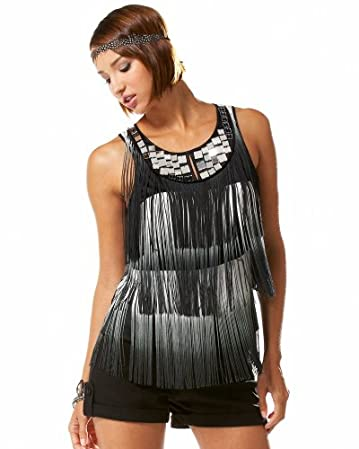 Mirror Yoke Fringe Top :  mirrors tank flapper vintage