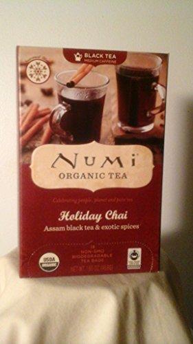 Numi Organic Tea Holiday Chai (Assam Black Tea & Exotic Spices) 18 Ct.