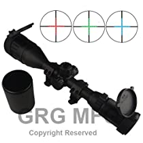 3-9x50mm Scope with front AO adjustment. Red/green mil-dot reticle. Comes with extended sunshade