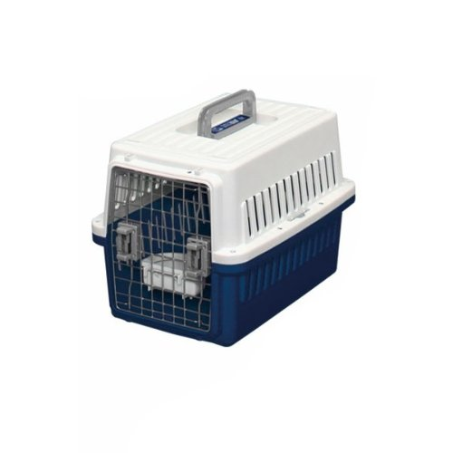 IRIS Dog Air Travel Carrier Crate, Navy, Small