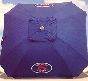 Tommy Bahama 2013 Beach Umbrella 7 Foot w/Tilt, Wind Vent, Sand Anchor - color choice (Solid Blue)